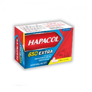 Hapacol 650mg Extra – DP Hậu Giang